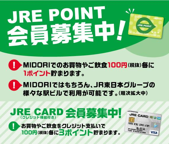 Point service of MIDORI changes