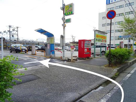 松本站南面停车场入口2