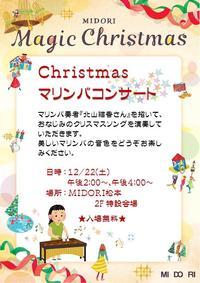 ★クリスマスイベント★第1弾『マリンバコンサート』