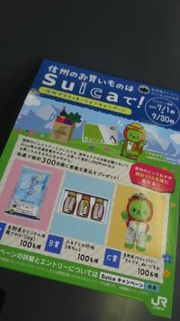 信州のお買いものはSuicaで キャンペーン実施中!