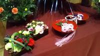 【りんごのひろば】重陽の節句 信州花展示