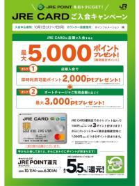 JRE CARD入会受付特設カウンターのご案内