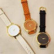 新作!キルティング腕時計