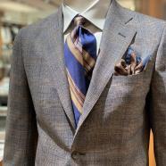 チェック柄スーツの着こなしならスーツセレクトミドリ松本