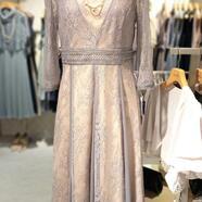 レイヤードラッセルレースドレス