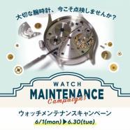 【6月30日まで】腕時計メンテナンスキャンペーン開催